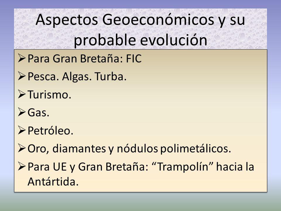 Aspectos Geoeconómicos y su probable evolución