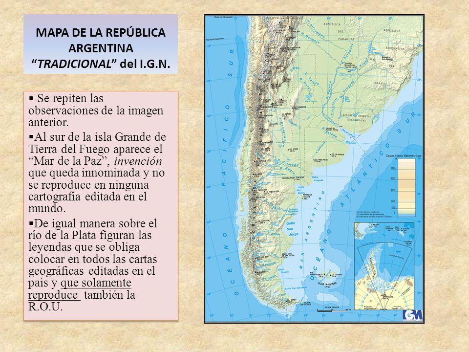 MAPA DE LA REPÚBLICA ARGENTINA TRADICIONAL del I.G.N.