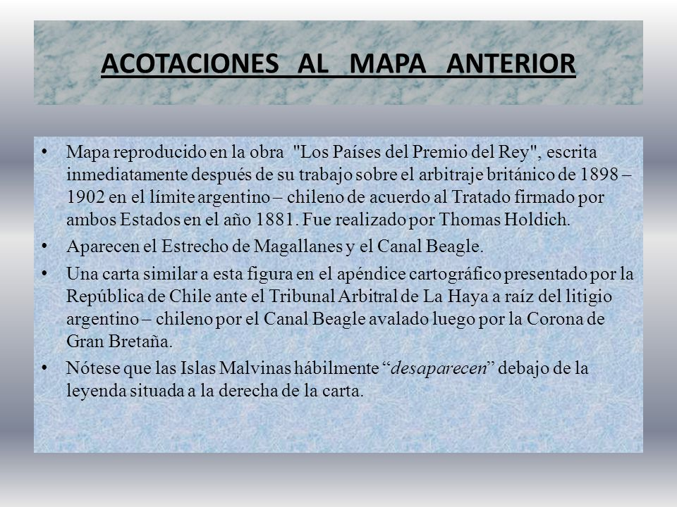 ACOTACIONES AL MAPA ANTERIOR