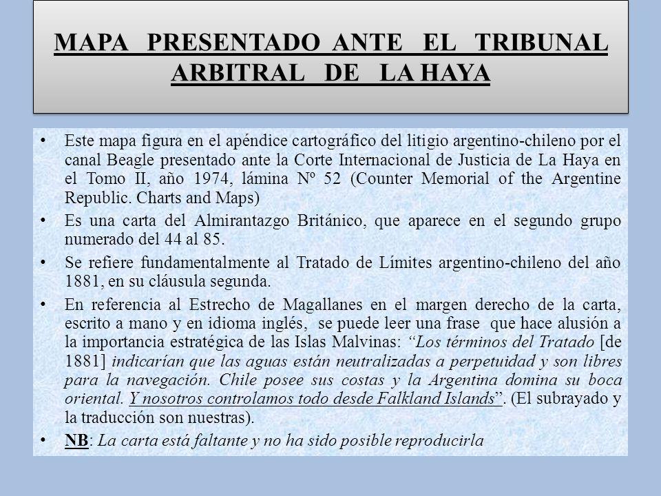 MAPA PRESENTADO ANTE EL TRIBUNAL ARBITRAL DE LA HAYA