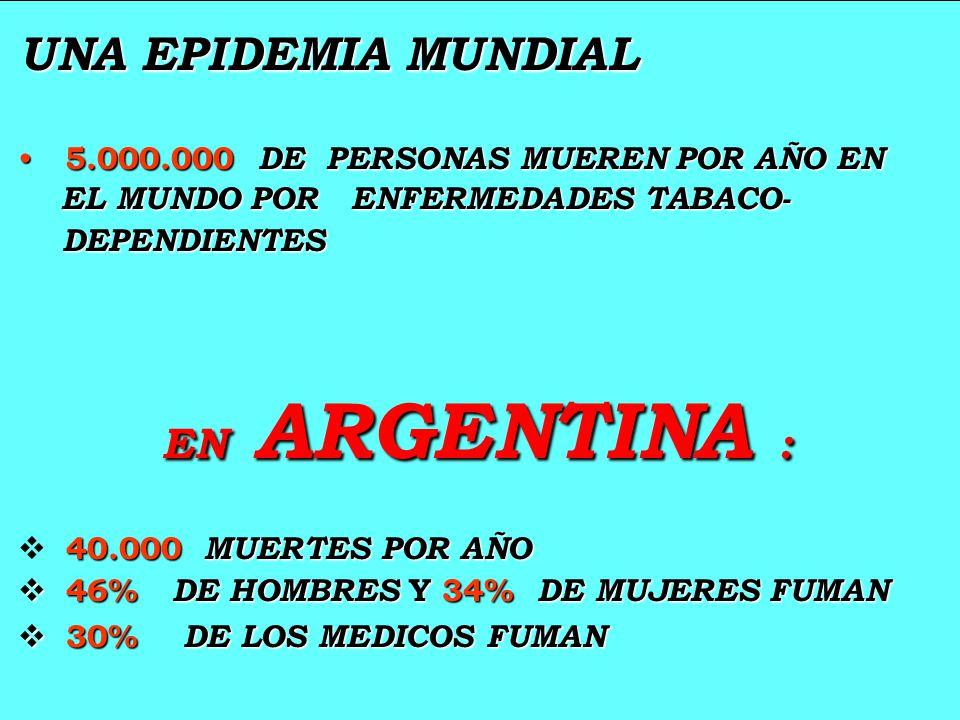 UNA EPIDEMIA MUNDIAL EN ARGENTINA :