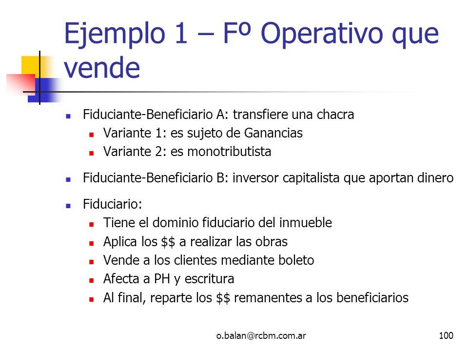 Ejemplo 1 – Fº Operativo que vende