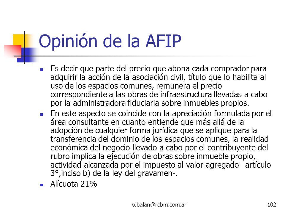 Opinión de la AFIP