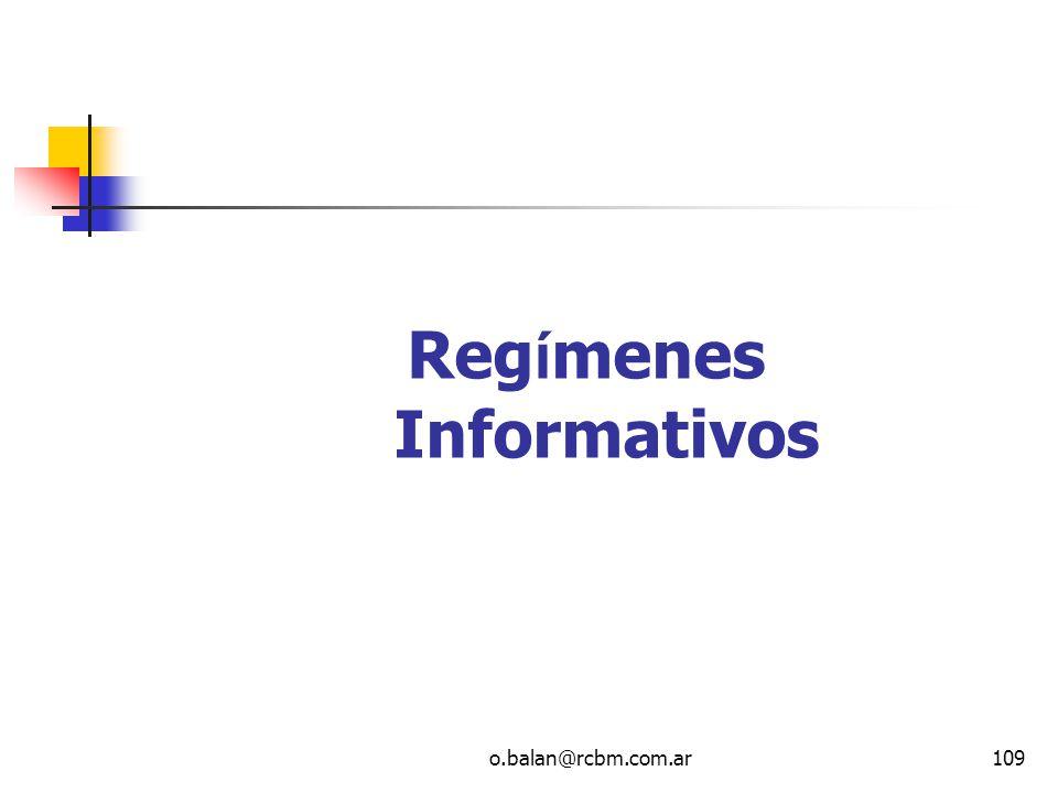 Regímenes Informativos