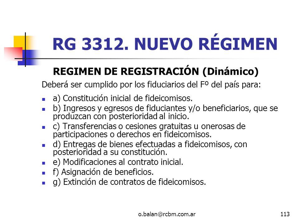 RG 3312. NUEVO RÉGIMEN REGIMEN DE REGISTRACIÓN (Dinámico)