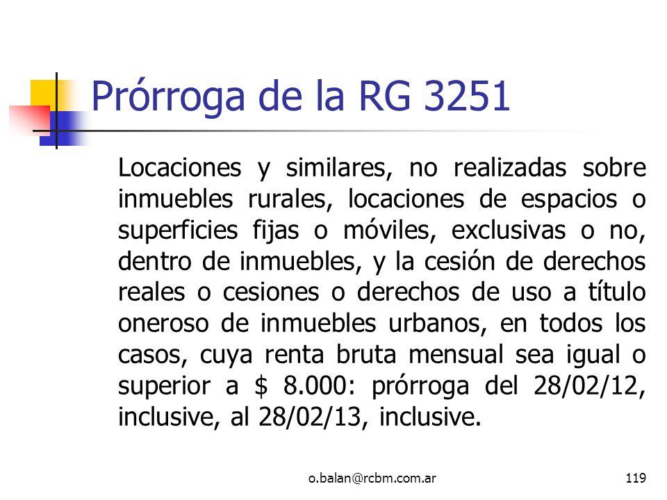 Prórroga de la RG 3251