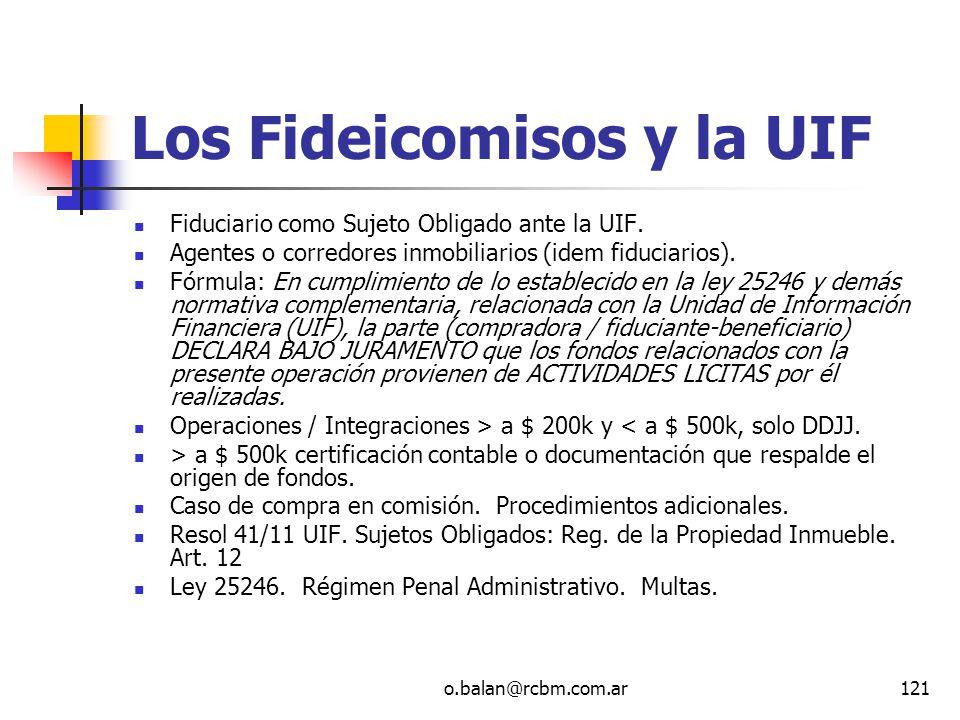 Los Fideicomisos y la UIF