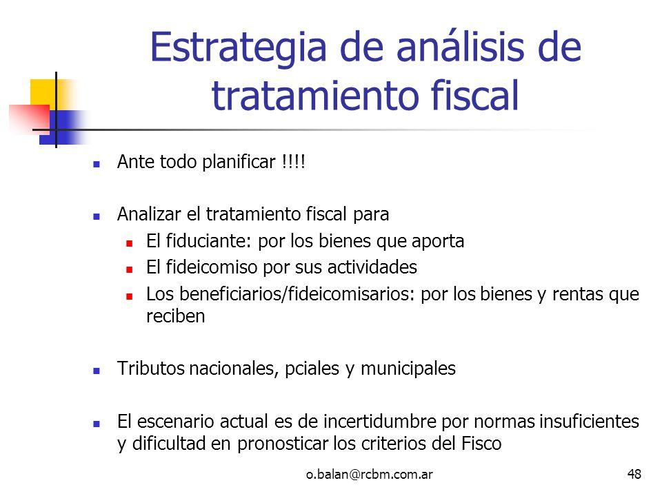 Estrategia de análisis de tratamiento fiscal