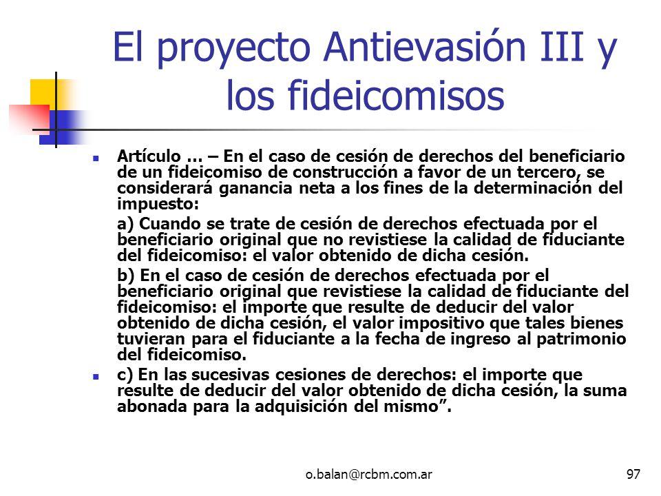 El proyecto Antievasión III y los fideicomisos