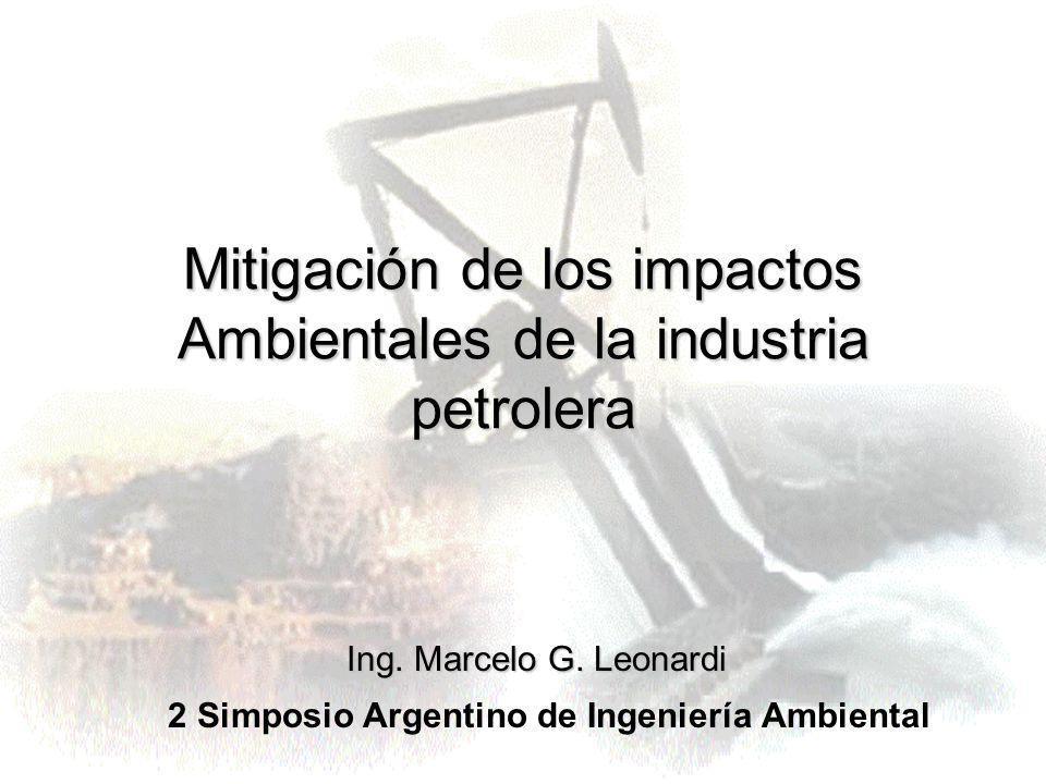 Mitigación de los impactos Ambientales de la industria petrolera