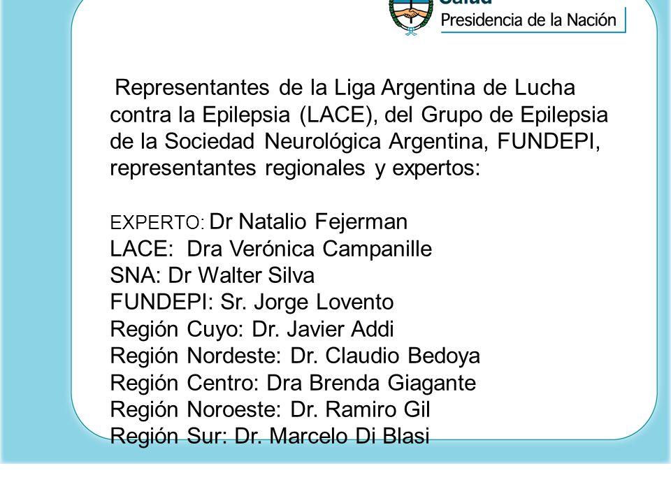 LACE: Dra Verónica Campanille SNA: Dr Walter Silva