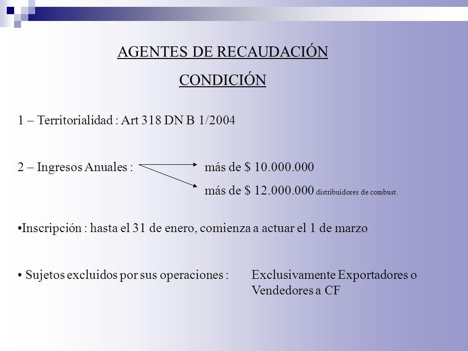 AGENTES DE RECAUDACIÓN
