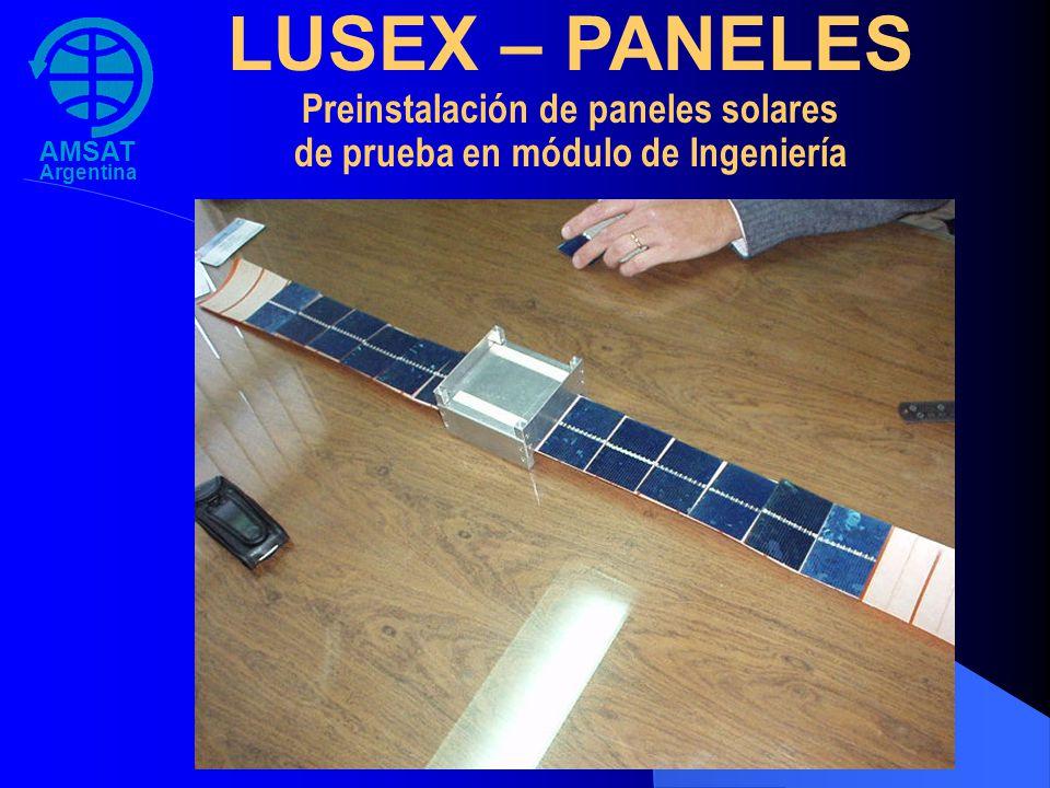 Preinstalación de paneles solares de prueba en módulo de Ingeniería