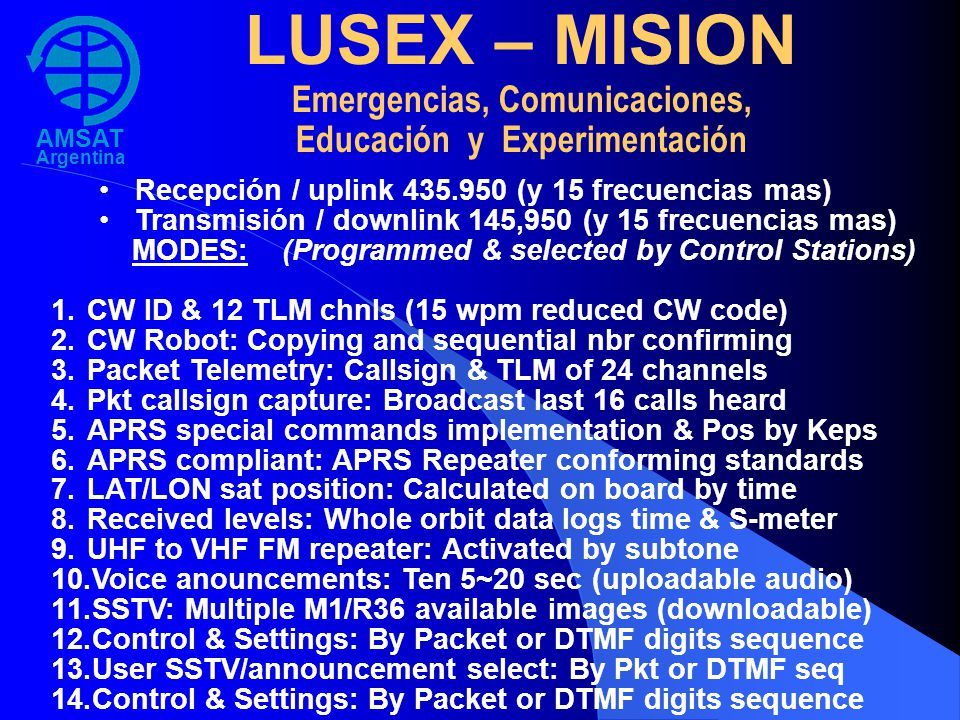 LUSEX – MISION Emergencias, Comunicaciones,