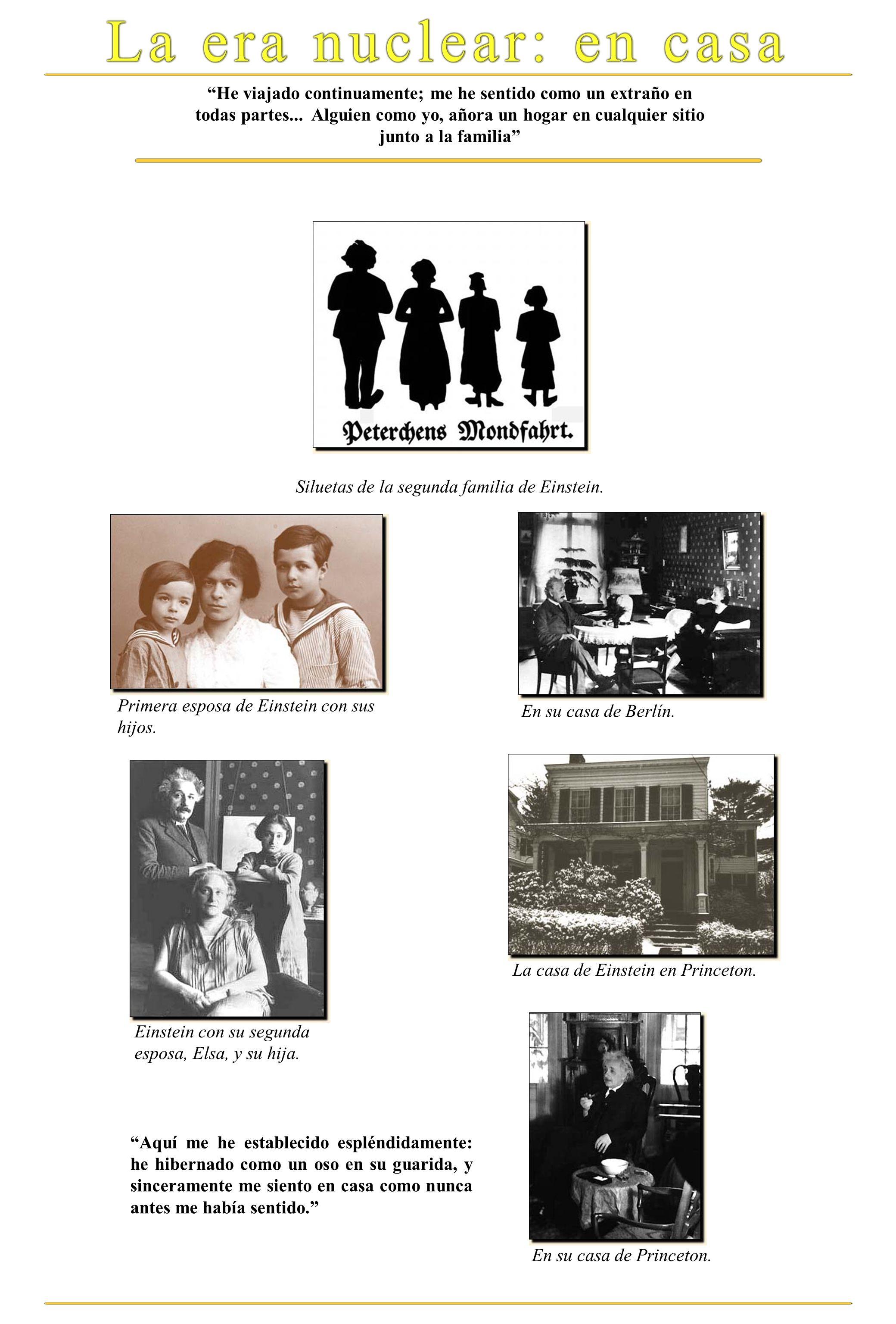 Siluetas de la segunda familia de Einstein.