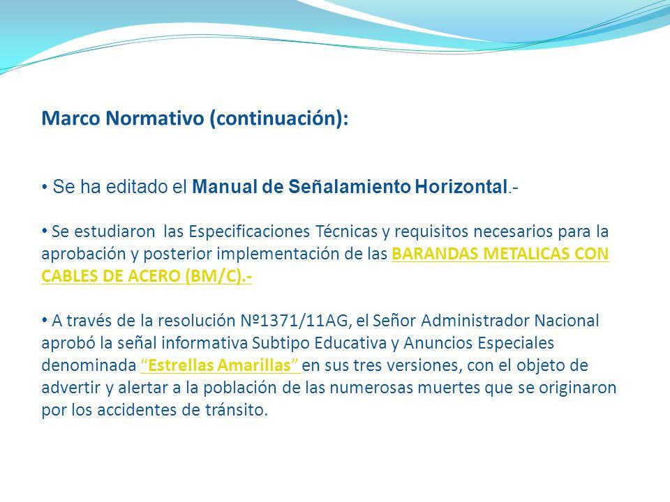 Marco Normativo (continuación):
