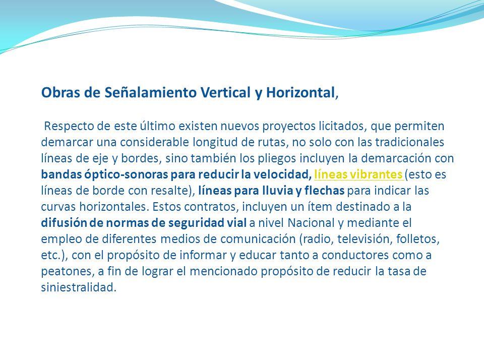 Obras de Señalamiento Vertical y Horizontal,