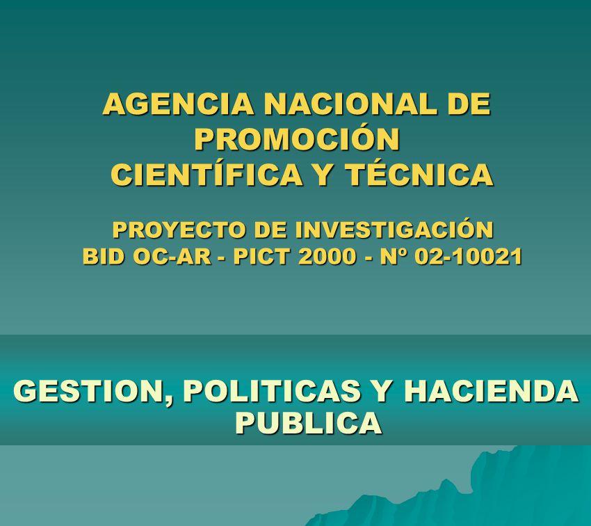 AGENCIA NACIONAL DE PROMOCIÓN CIENTÍFICA Y TÉCNICA