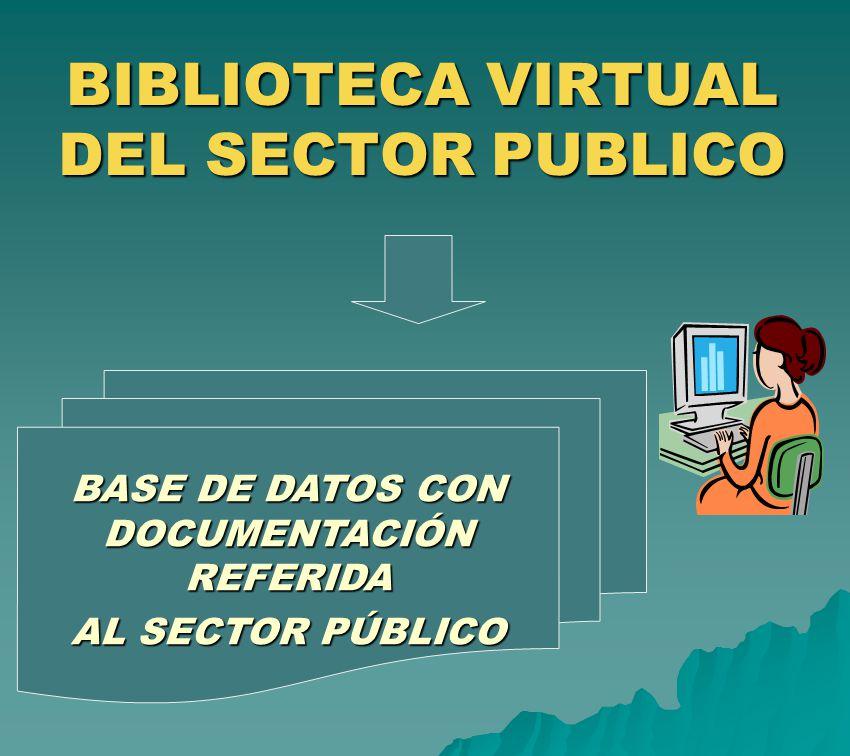 BIBLIOTECA VIRTUAL DEL SECTOR PUBLICO