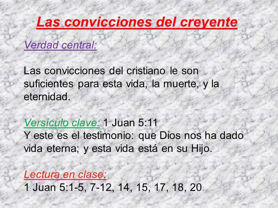 Las convicciones del creyente