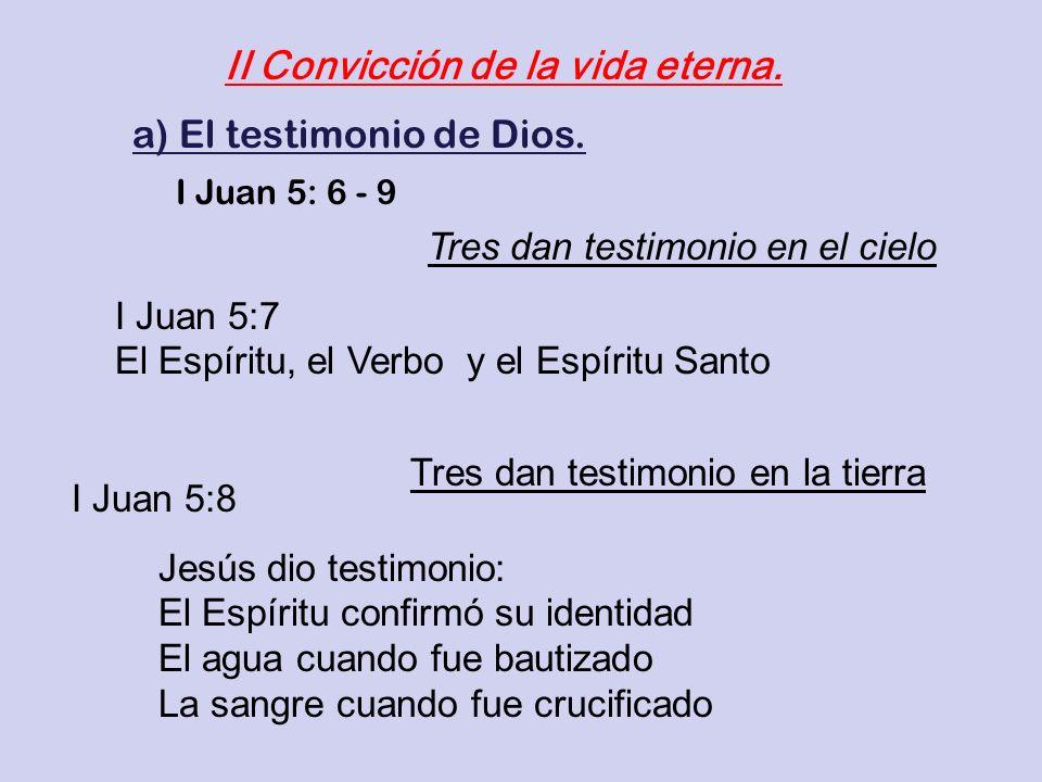 II Convicción de la vida eterna.