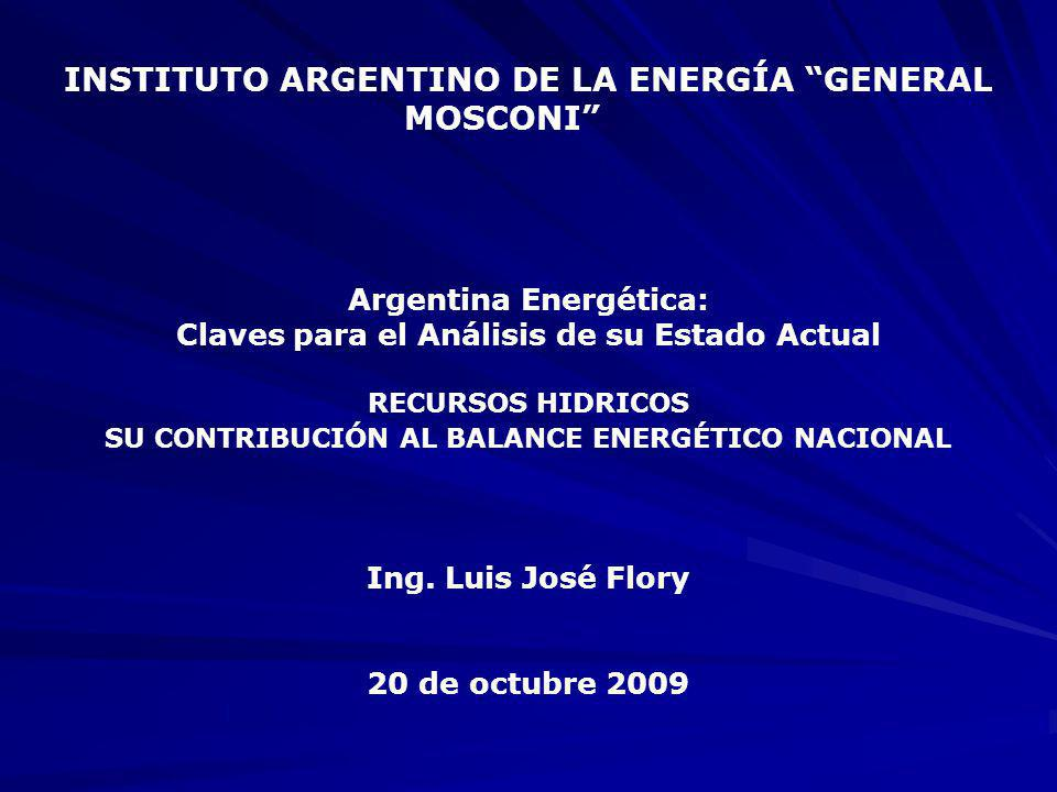 INSTITUTO ARGENTINO DE LA ENERGÍA GENERAL MOSCONI