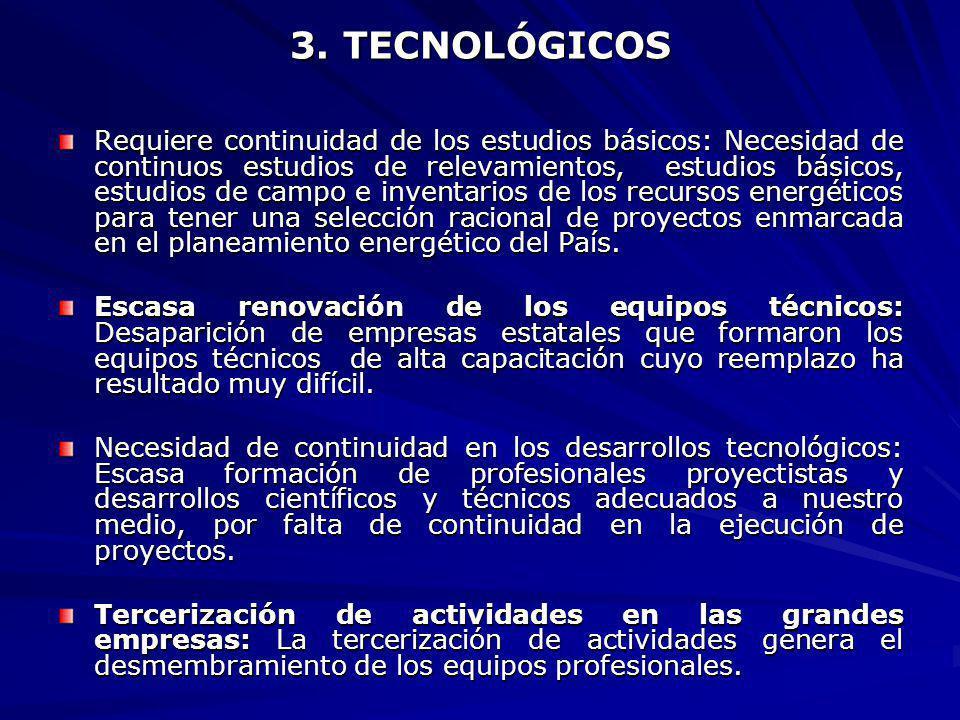 3. TECNOLÓGICOS