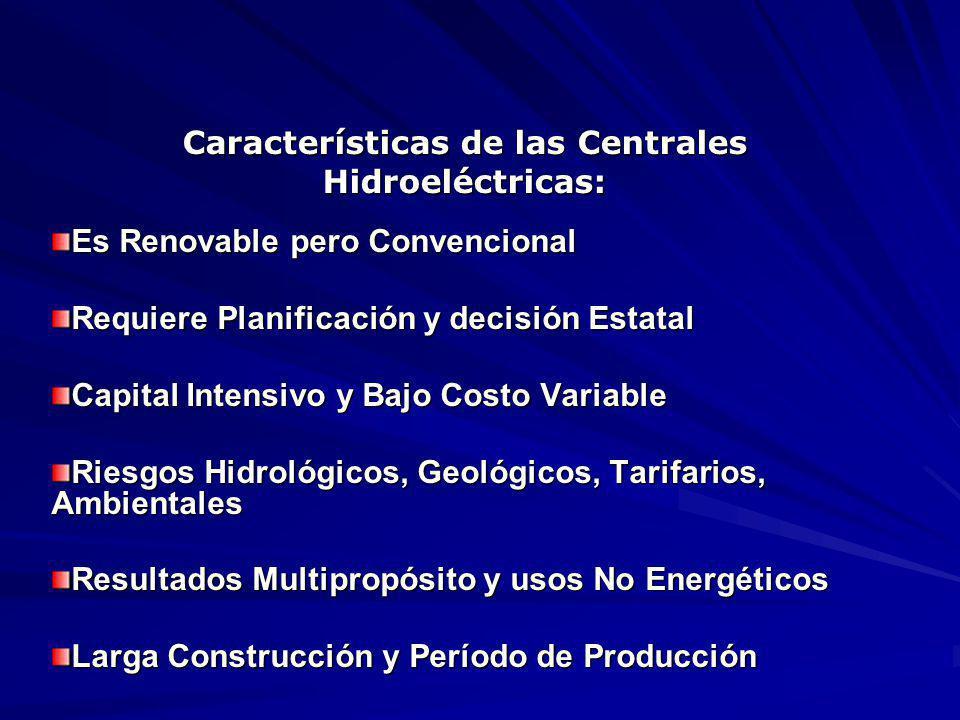 Características de las Centrales Hidroeléctricas: