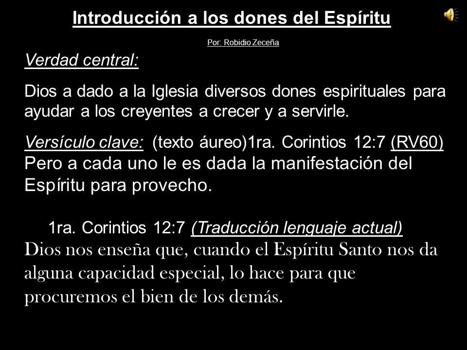 Introducción a los dones del Espíritu