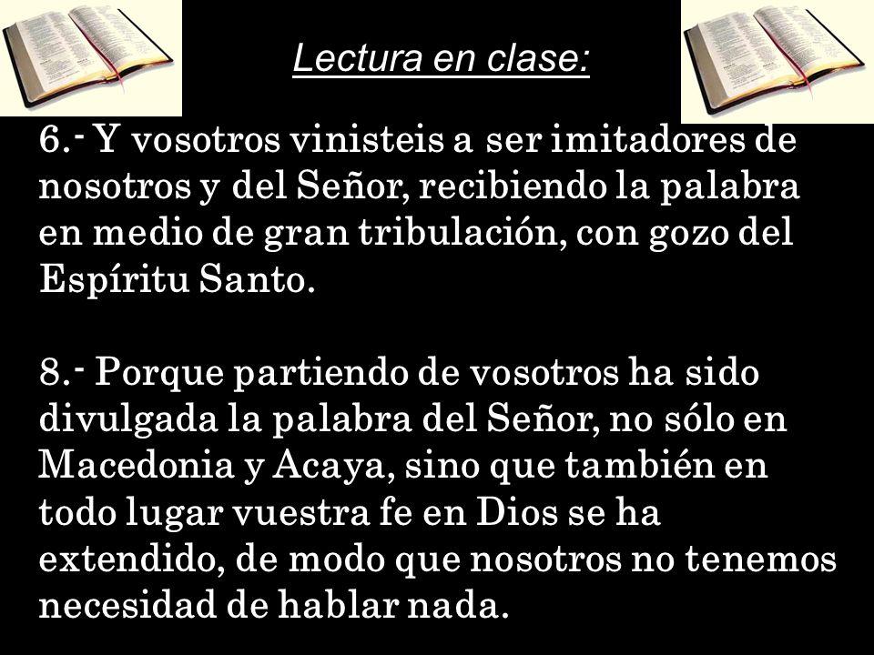 Lectura en clase: