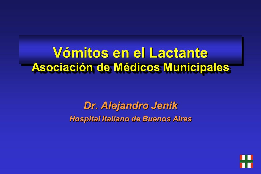 Vómitos en el Lactante Asociación de Médicos Municipales