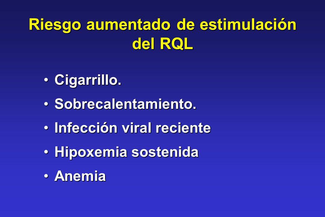 Riesgo aumentado de estimulación del RQL