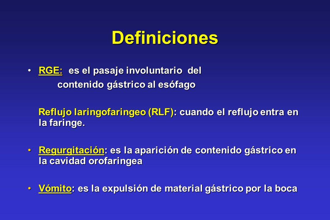 Definiciones RGE: es el pasaje involuntario del