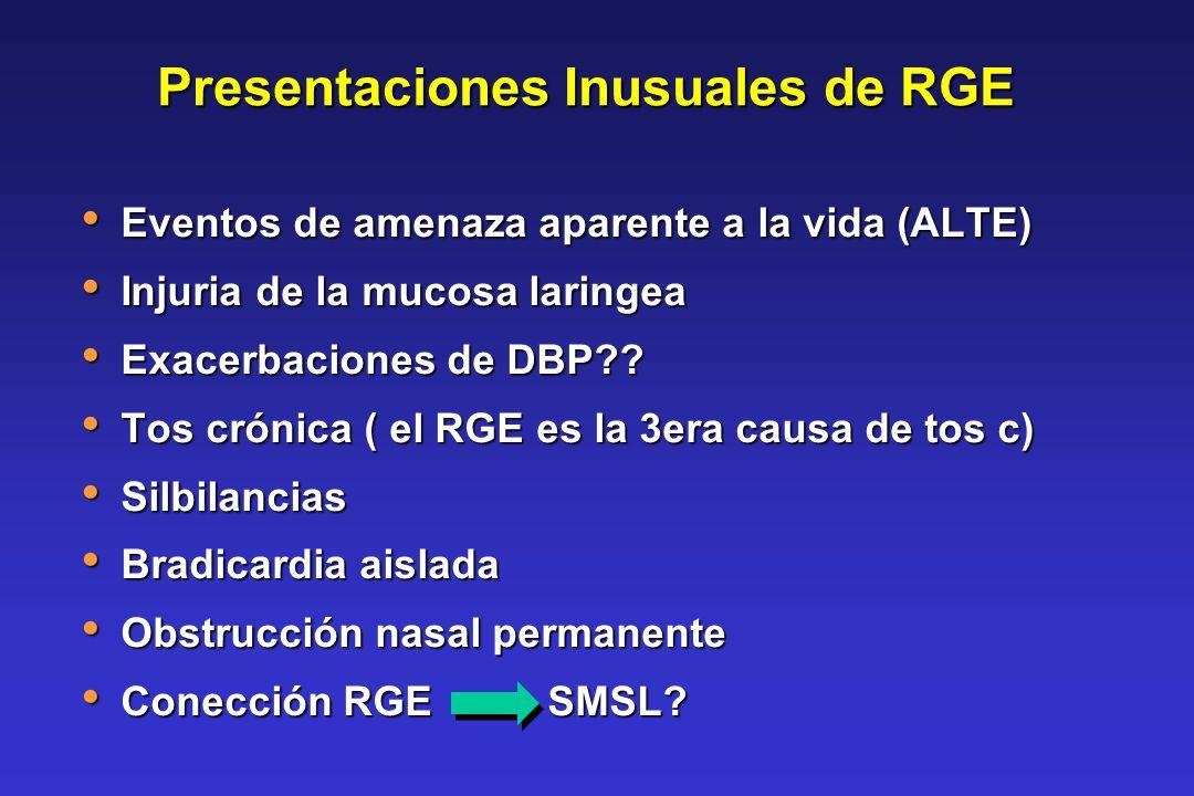 Presentaciones Inusuales de RGE