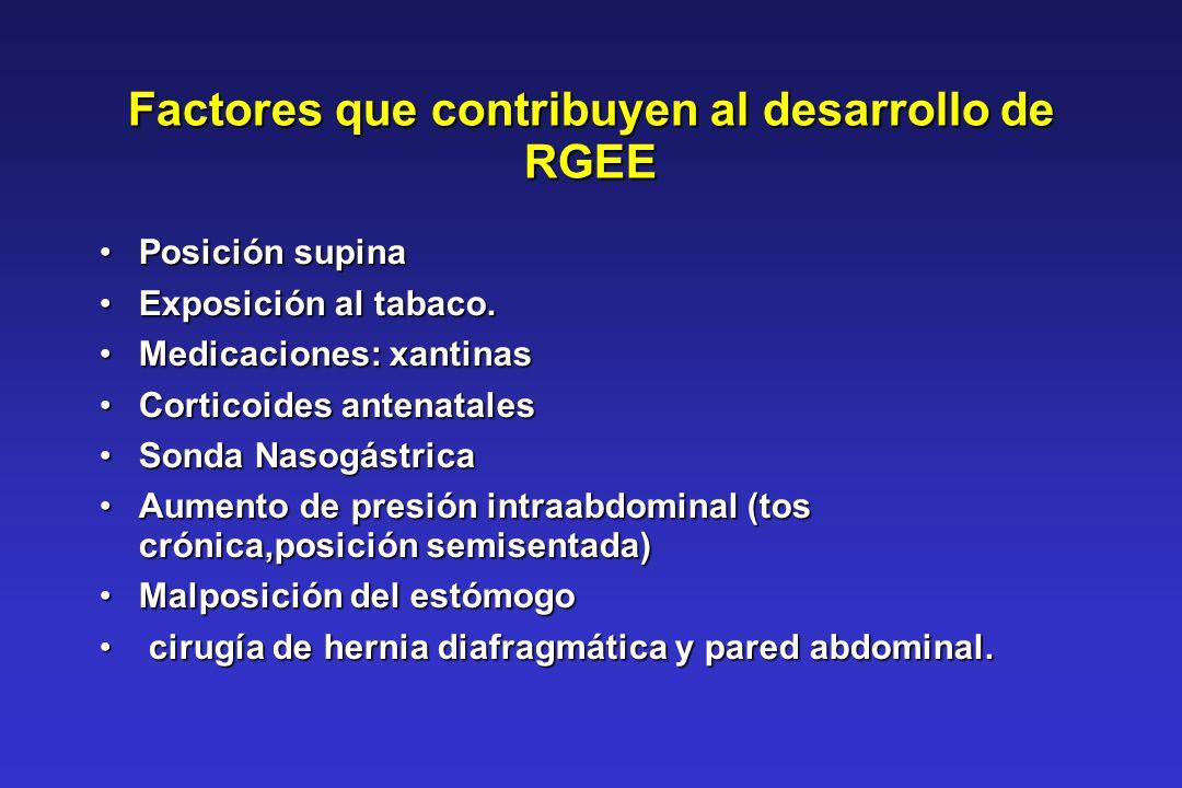 Factores que contribuyen al desarrollo de RGEE