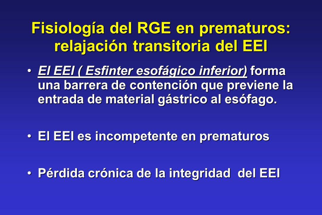 Fisiología del RGE en prematuros: relajación transitoria del EEI