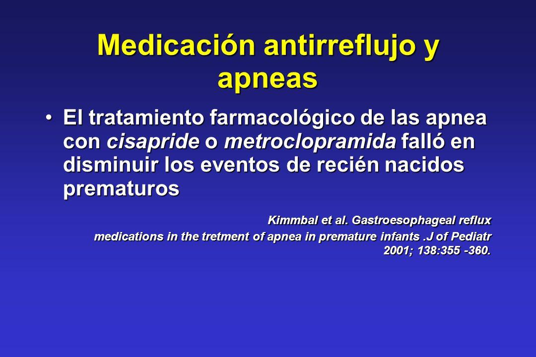 Medicación antirreflujo y apneas