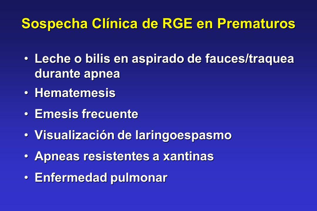 Sospecha Clínica de RGE en Prematuros