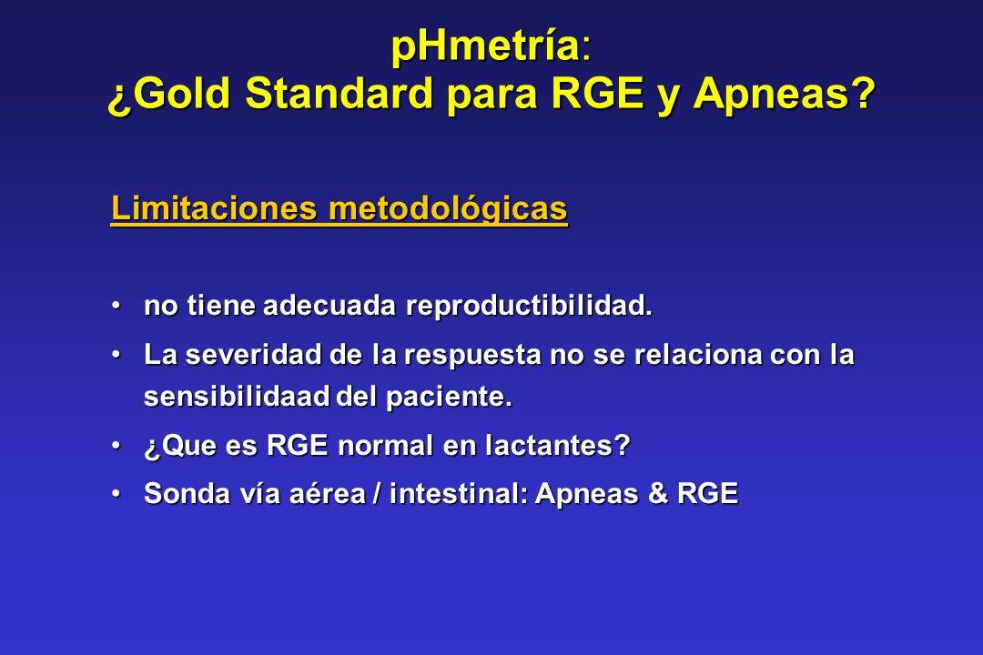 pHmetría: ¿Gold Standard para RGE y Apneas