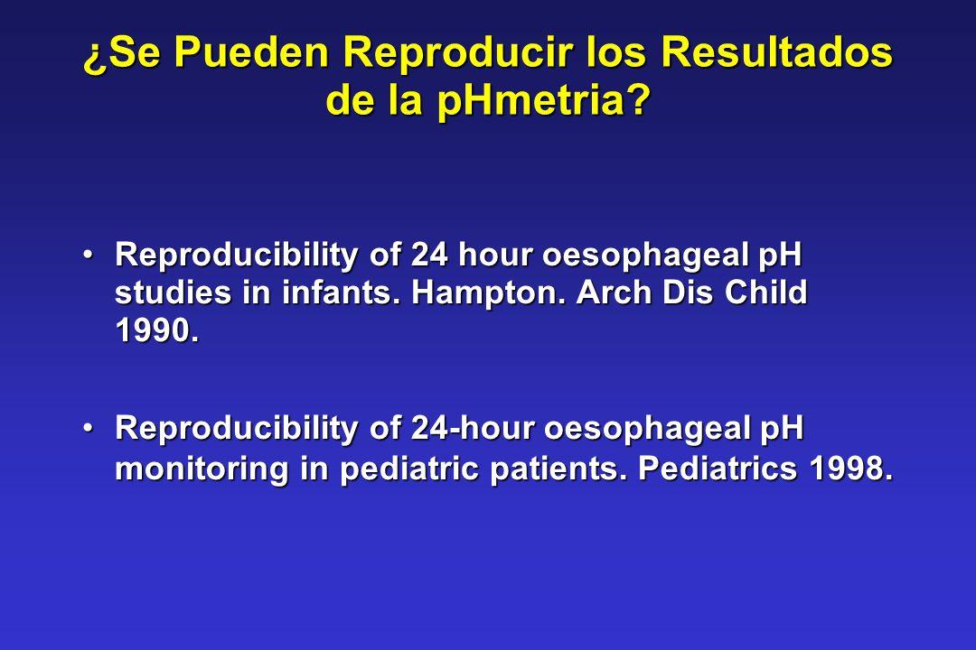 ¿Se Pueden Reproducir los Resultados de la pHmetria