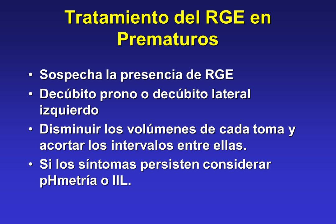 Tratamiento del RGE en Prematuros