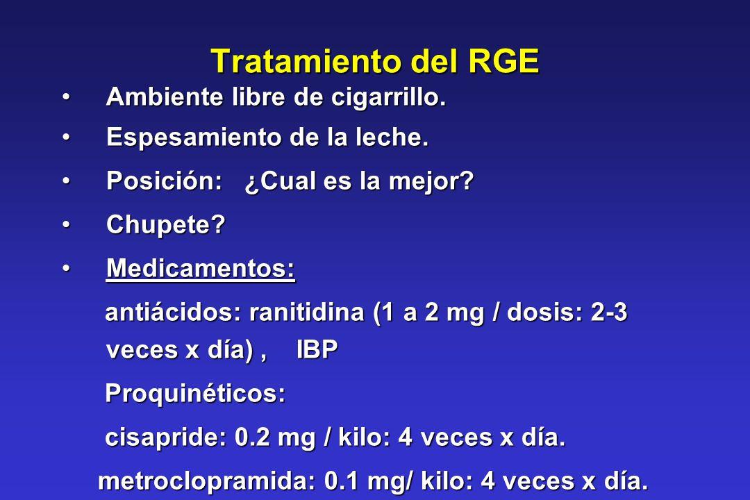 Tratamiento del RGE Ambiente libre de cigarrillo.