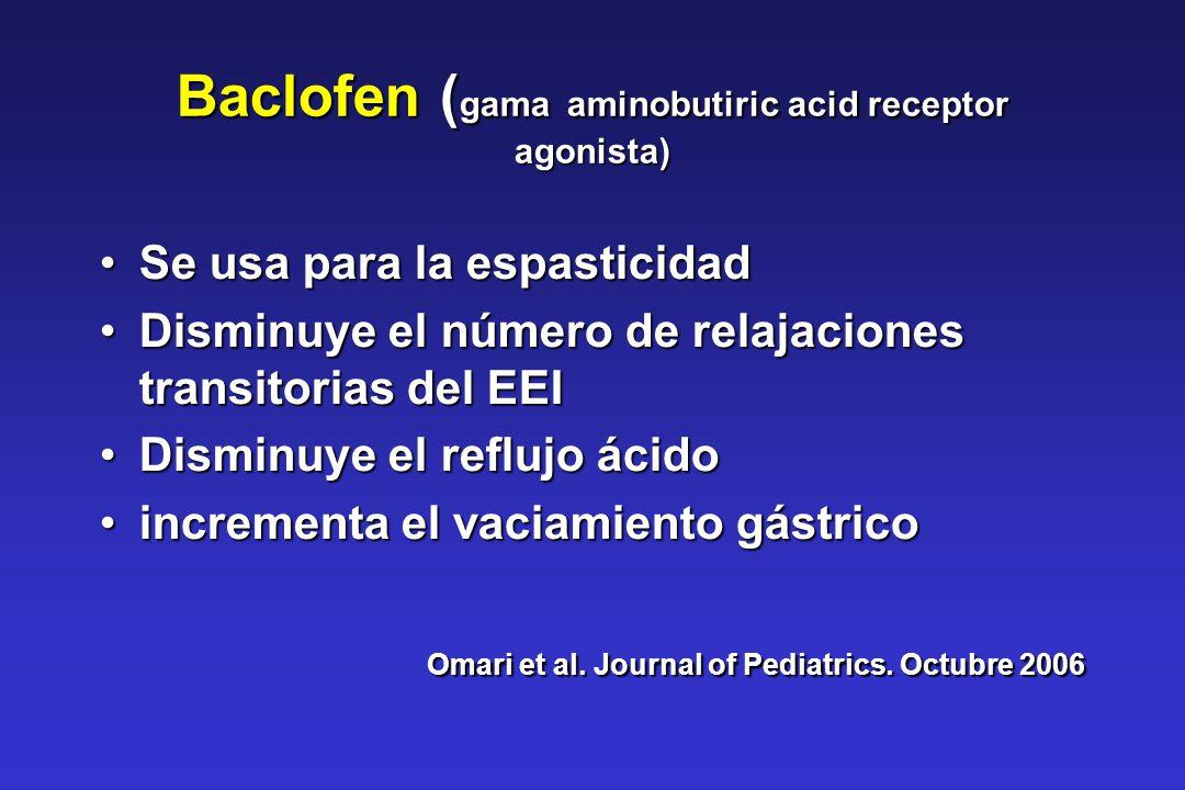 Baclofen (gama aminobutiric acid receptor agonista)