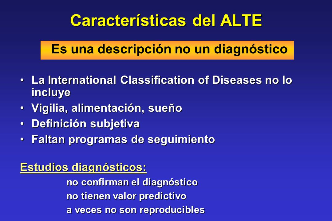 Características del ALTE