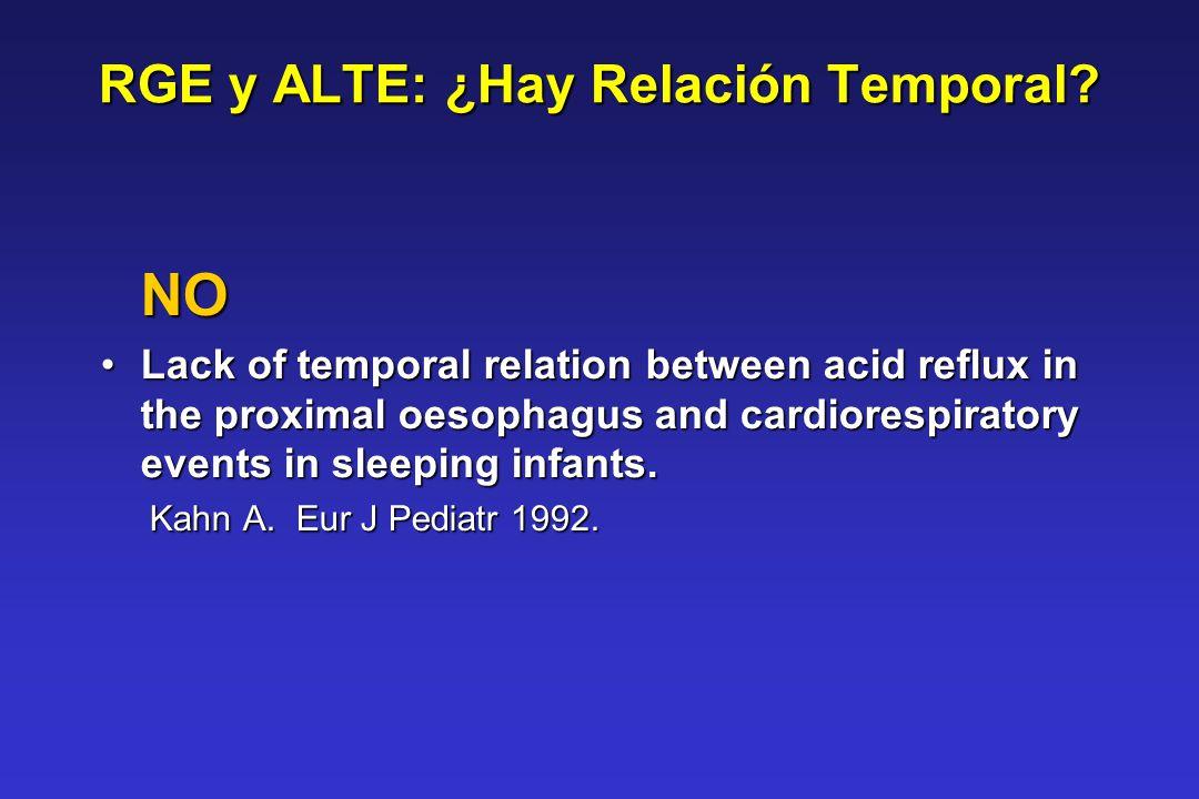 RGE y ALTE: ¿Hay Relación Temporal
