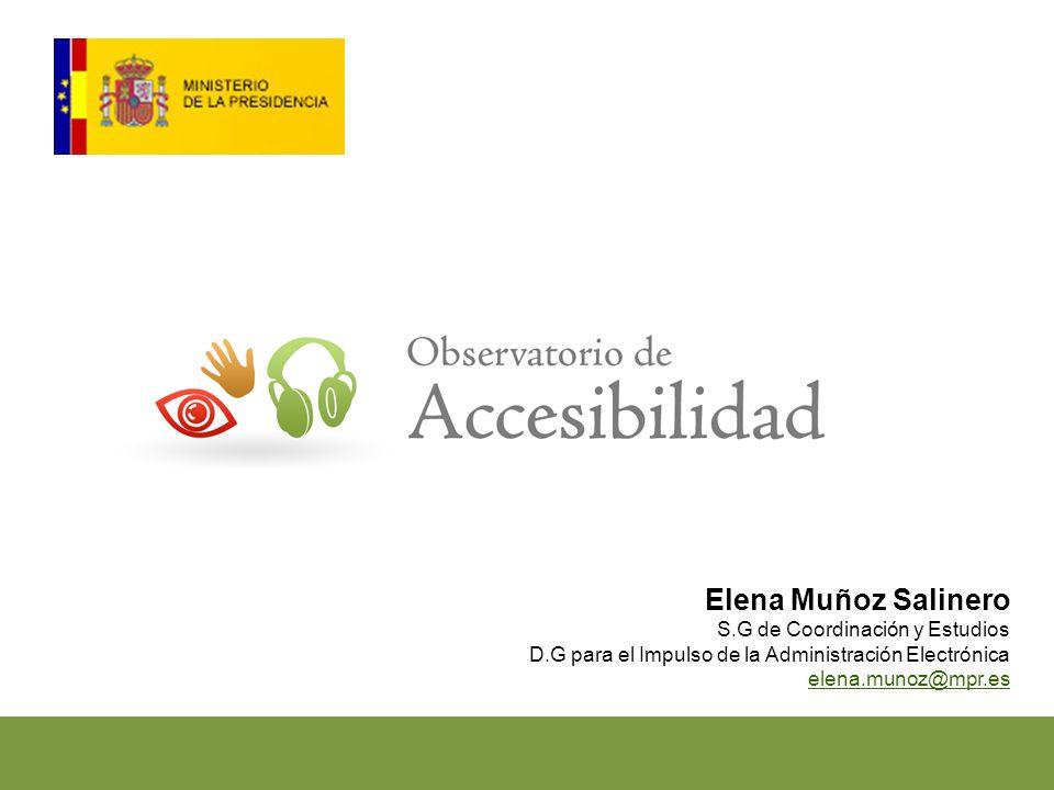 Elena Muñoz Salinero S.G de Coordinación y Estudios