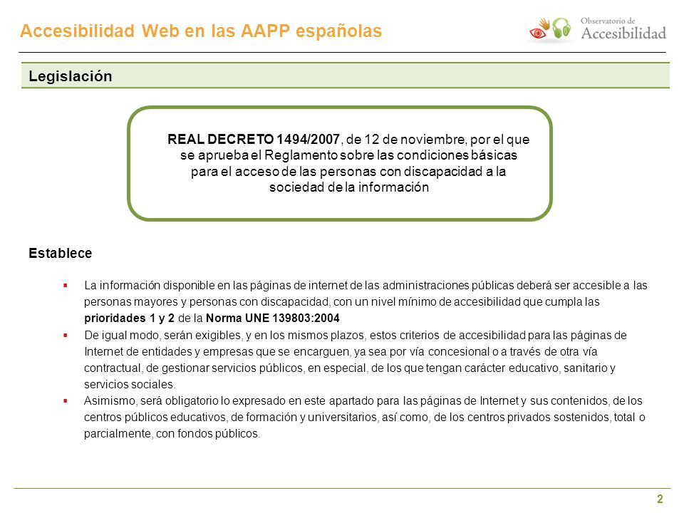 Accesibilidad Web en las AAPP españolas