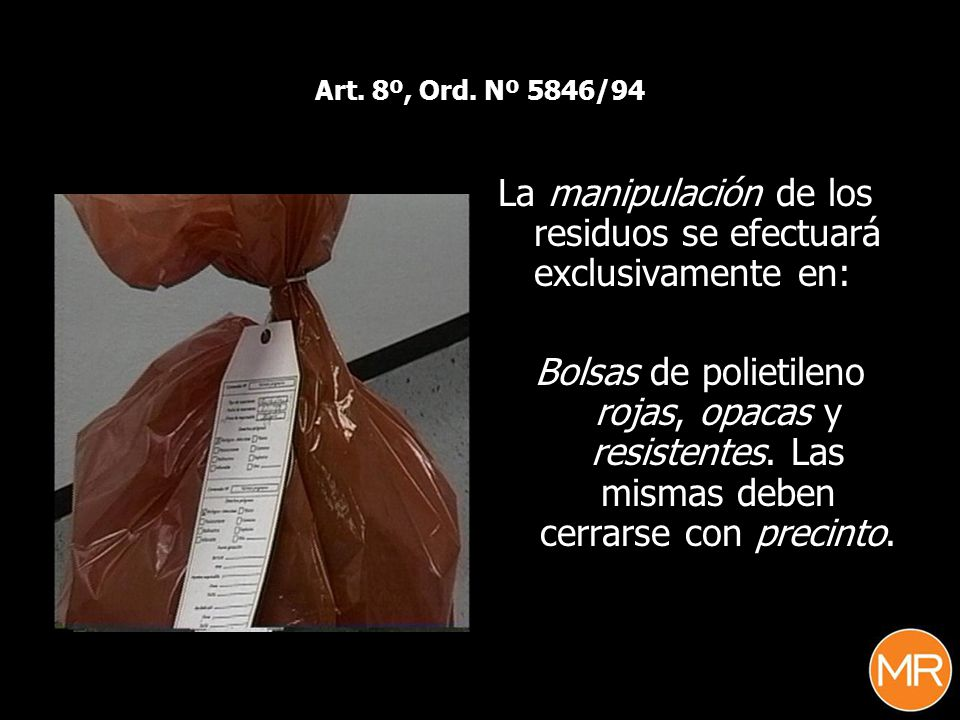 La manipulación de los residuos se efectuará exclusivamente en: