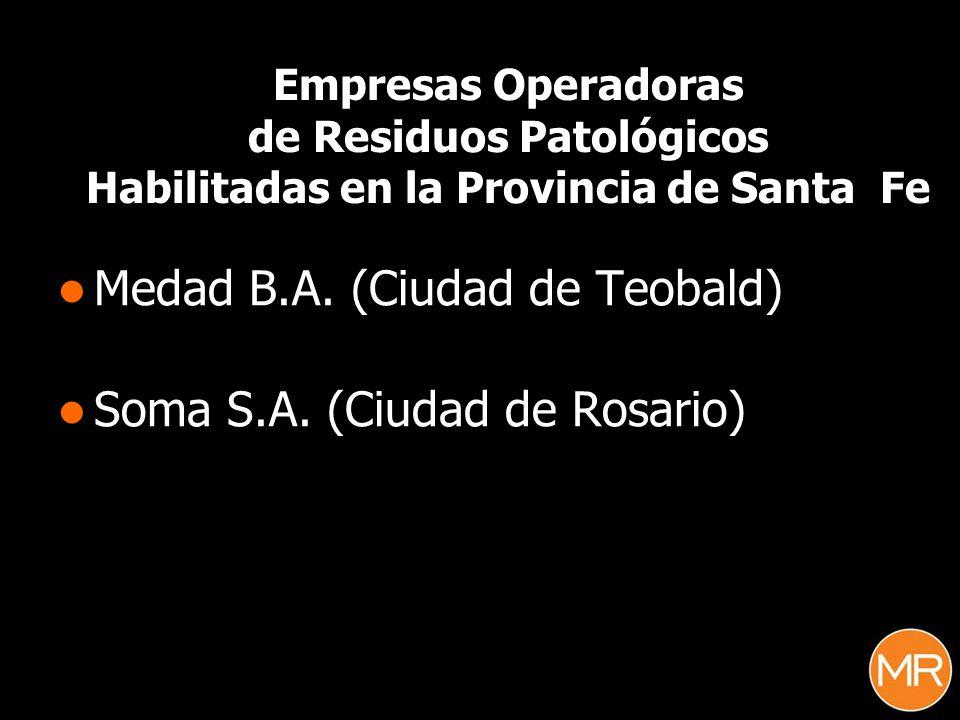 Medad B.A. (Ciudad de Teobald) Soma S.A. (Ciudad de Rosario)