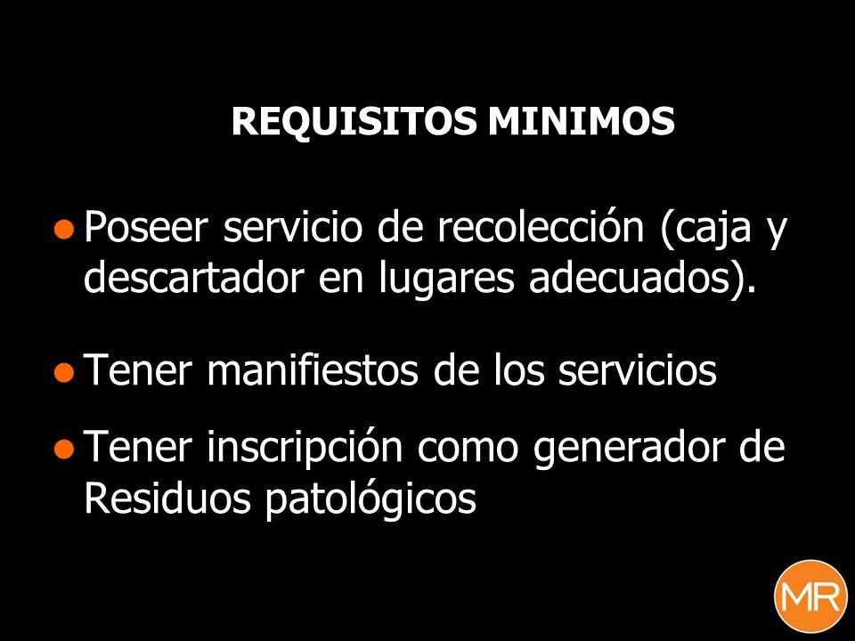 Tener manifiestos de los servicios